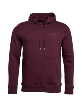Under Armour Mens Rival Fleece Fitted Hoodie Red by Under Armour