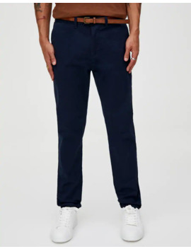 skinny-fit-chino-met-riem by pull-&-bear