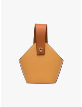Mini Johnny Two Tone Leather Bucket Bag by Danse Lente