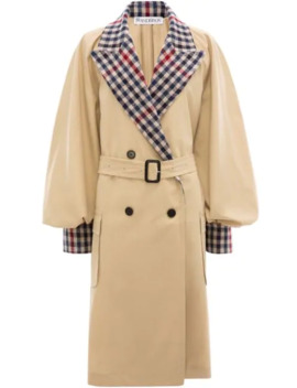 contrast-check-trench-coat by jw-anderson