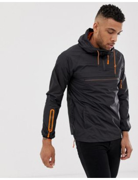 soul-star-overhead-windbreaker-with-orange-trim by asos