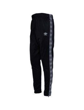 Umbro Mens Active Style Taped Tricot Pants Black/White by Umbro