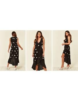black-spotted-asymmetrical-dress by ax-paris