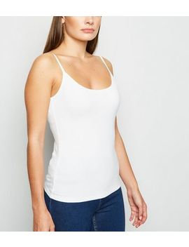 white-organic-cotton-blend-cami by new-look