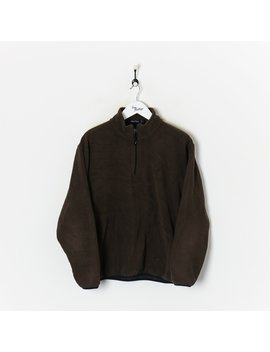 Nautica 1/4 Zip Fleece Brown Large by Nautica