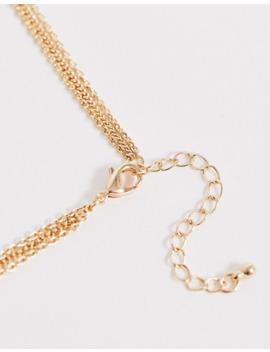 asos-design---collana-multifilo-con-catena-sottile-oro-e-ciondolo-smaltato by asos-design