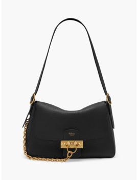 mulberry-keeley-heavy-grain-leather-shoulder-bag,-black by mulberry