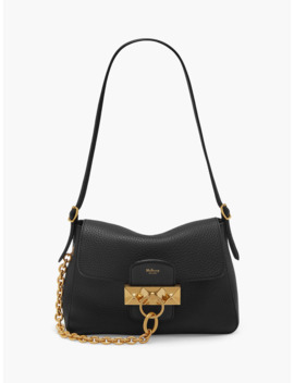 mulberry-mini-keeley-heavy-grain-leather-shoulder-bag,-black by mulberry