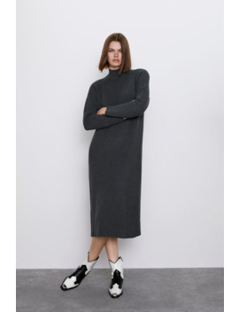 mock-neck-dress by zara