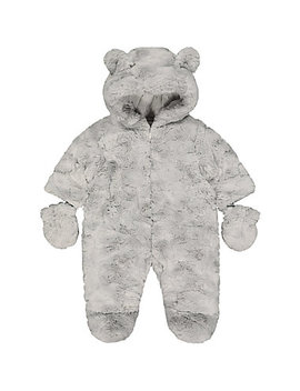 Fluffy Grey Snowsuit by Mothercare