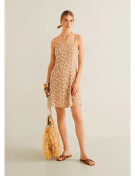 kjole-med-trykk-hårstrikk by mango
