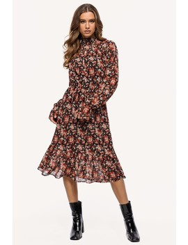 Just Feel Safe by Loavies Multicolour Floral Print Dress