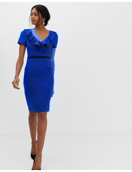 paper-dolls-capped-sleeve-pencil-dress-with-frill-detail by paper-dolls