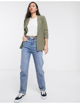soaked-in-luxury-gathered-sleeve-blazer by asos