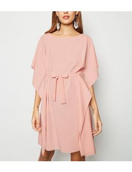 urban-bliss-pale-pink-belted-t-shirt-dress by new-look