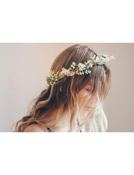 whimsical-forest-herbs-flower-crown---dried-flowers,-artificial-leaves,-bridal-wreaths,-bridal-crowns by etsy