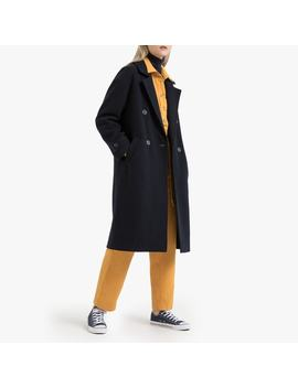 wool-mix-double-breasted-coat-with-pockets by la-redoute-collections