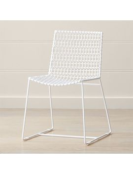 tig-indoor_outdoor-white-metal-dining-chair by crate&barrel