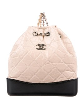 gabrielle-small-beige-calfskin-leather-backpack by chanel