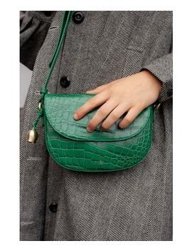 Bell & Fox Callie Holly Green Croc Mini Saddle Bag by Bell & Fox