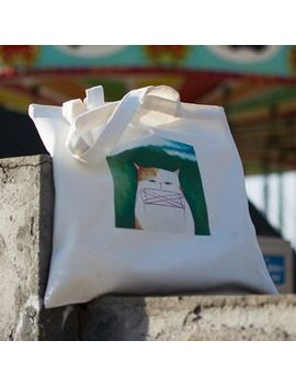cady---canvas-cat-print-tote-bag by cady
