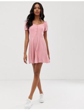 prærieskjole-med-firkantet-hals-i-pink-fra-new-look by new-look