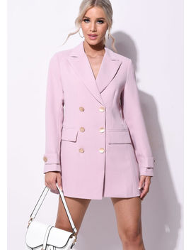 longline-double-breasted-boyfriend-blazer-dress-pink by lily-lulu-fashion