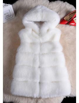 faux-fur-stripe-hooded-gilet-jacket-white by lily-lulu-fashion