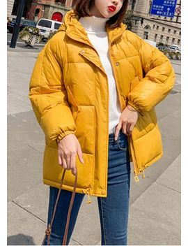 wet-look-chunky-padded-hooded-oversized-puffer-coat-yellow by lily-lulu-fashion