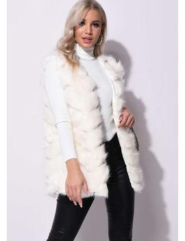 faux-fur-zigzag-panels-gilet-beige by lily-lulu-fashion