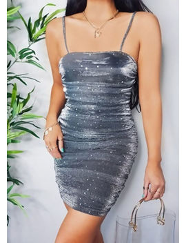 metallic-sequin-strappy-ruched-side-bodycon-dress-silver by lily-lulu-fashion
