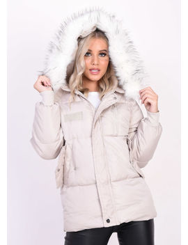 oversized-quilted-faux-fur-hooded-padded-puffer-coat-beige by lily-lulu-fashion