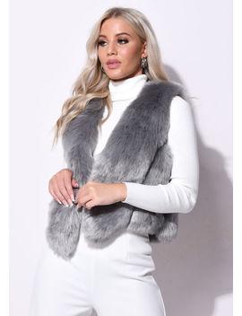 faux-fur-faux-leather-crop-gilet-grey by lily-lulu-fashion