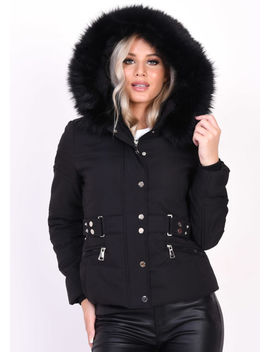 quilted-faux-fur-hooded-belted-puffer-coat-black by lily-lulu-fashion