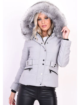 quilted-faux-fur-hooded-belted-puffer-coat-grey by lily-lulu-fashion