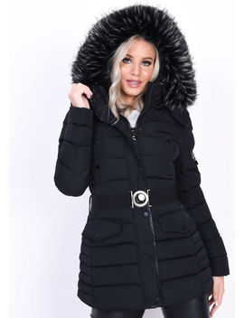 quilted-hooded-padded-belted-puffer-coat-black by lily-lulu-fashion