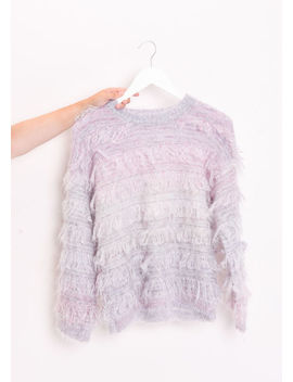 fringed-mohair-fluffy-crew-neck-jumper-multi by lily-lulu-fashion