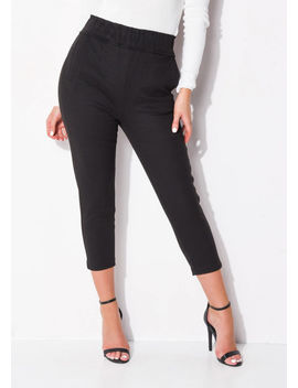 high-waisted-pocket-detail-tapered-leg-trousers-black by lily-lulu-fashion