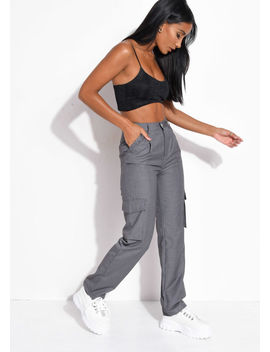 high-waisted-utility-pocket-detail-trousers-grey by lily-lulu-fashion