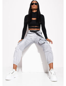 belted-reflective-utility-buckle-jogger-trousers-grey by lily-lulu-fashion