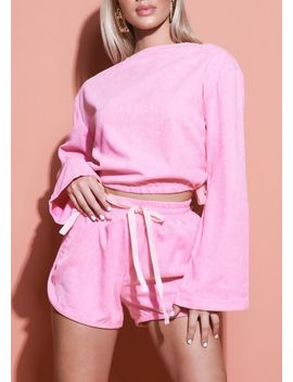 corduroy-crop-top-and-runner-shorts-loungewear-set-pink by lily-lulu-fashion