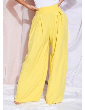 wide-leg-high-waisted-palazzo-trousers-yellow by lily-lulu-fashion