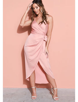 satin-wrap-over-midi-dress-blush-pink by lily-lulu-fashion