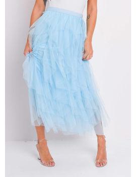 high-waisted-layered-tulle-ruffle-midi-skirt-blue by lily-lulu-fashion