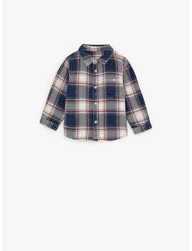 indigo-plaid-shirt by zara
