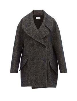 oversized-linen-blend-tweed-pea-coat by raey