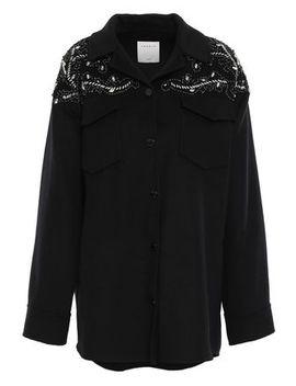 embellished-wool-blend-felt-jacket by sandro