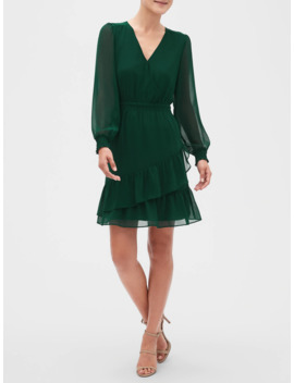 smocked-fit-and-flare-dress by banana-republic-factory
