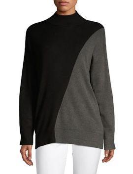 colourblock-mockneck-sweater by calvin-klein