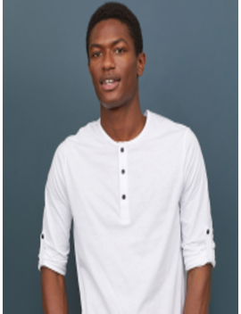 men-white-solid-cotton-jersey-henley-t-shirt by h&m